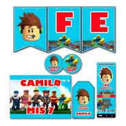 Kit Imprimible Roblox Candy Bar Personalizado Invitacion