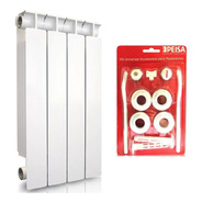 Radiador Peisa Tropical T500/80 4 Elementos +kit Instalación