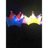6 Vinchas Corona Led Combo Cotillon Luminoso Fiesta Carioca