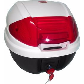 Baul Baulera Para Moto Blanco Capacidad Un Casco Kadima