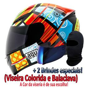 Capacete Agv K-3 Valentino Rossi Elements +2 Brindes + Frete