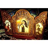 Antiguo Triptico Religioso-vitrina-no Espejo