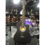 Guitarra Acústica Mccartney Negra Mate