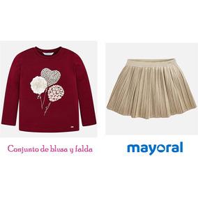 Conjunto De Blusa Y Falda Mayoral Chic Est. 4064 # 2 A 9 Año
