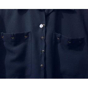 Blusa De Mujer Con Diseño Y Tajos En Cadera De Gasa Labrada