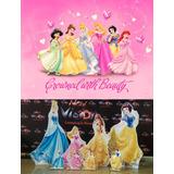 Kit Display Princesas Disney 8 Pç + Painel 2x1,50 48hs