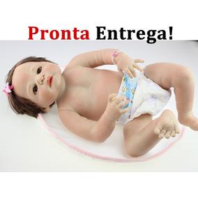 Pronta Entrega Bebê Reborn Todo Vinil Silicone Bebe Menina