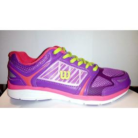 Zapatillas Wilson Running Gym Training Violeta