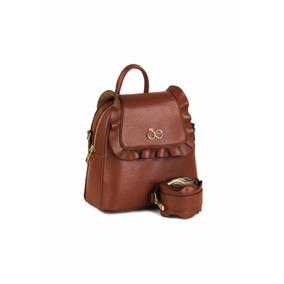 Backpack Mochila Bolsa Cloe 2 En 1 En Café !! Envío Gratis !