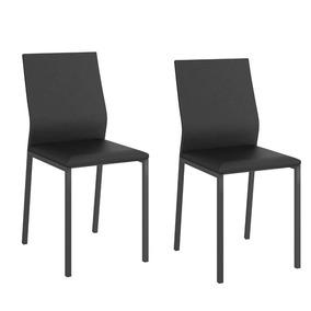 Conjunto 2 Cadeiras Couríssimo Preto 1804 Carraro