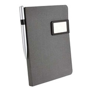 Libreta Con Placa De Aluminio Y Boligrafo