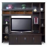 Organizador Para Tv En Melamina Color Negro Corfam 20407
