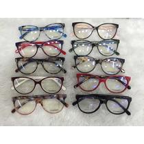 Óculos Armação De Grau Chanel Gatinho Redondo Frete + Brinde