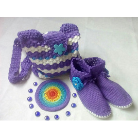 Botines Y Bolsos En Crochet