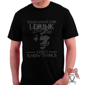 Camisa Camiseta Game Of Thrones Tyrion Drink And Know Things