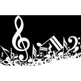 Painel Lona Notas Musicais (5) 2x1,50 - Envio 48h Display