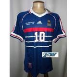 Camisa França Copa 1998 #10 Zidane