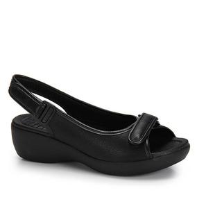 Sandália Papete Azaleia Velcro - Preto