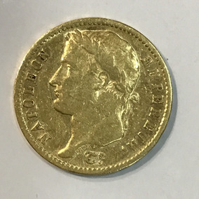 Moeda Empereur Napoleon, Ano 1810, 20 Frances Em Ouro.
