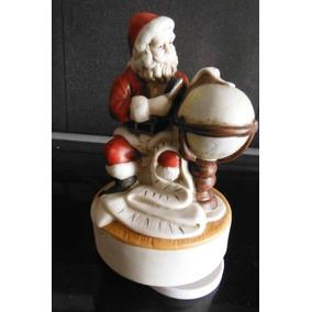 Figura Musical Santa Claus El Mundo World Navidad Christmas