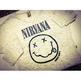 Remera Manda Larga Nena Nirvana