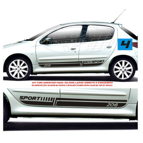 Acessórios Faixas Laterais Peugeot 206 E Sw 4 P Kit Adesivos