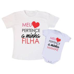 Blusa Branca Com Coracao Infantil - Camisetas Manga Curta no Mercado ... aee7b4b1117