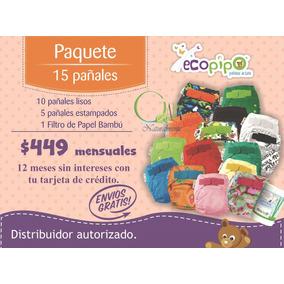Paquete Ecopipo Meses Sin Intereses 15 Pañales Ecológicos