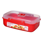 Contendor De Alimentos Microwave 1,25l Sistema