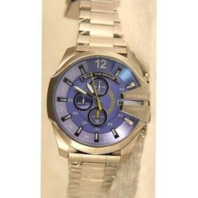 Relógio Diesel Prata Azul Promoção L60 Top Imperdivel