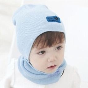 b8e2651a0817c Touca Com Cachecol Para Crianças I Gorro Infantil A