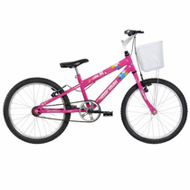 Bicicleta Mountain Bike Mormaii Aro 20 Sweet Girl Com Cesta