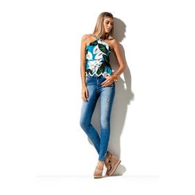 Calça Jeans Feminina Skinny Morena Rosa Ref:202717