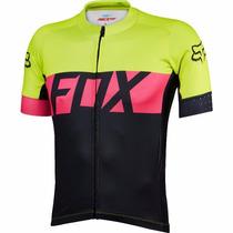 Jersey Fox Ascent Ss Amarillo Negro Bicicleta Ciclismo