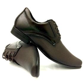 Sapato Social Masculino Marrom Super Barato Bico Fino