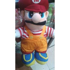 Muñeco Mario Bros Luigi Peluche Juguete 40cm Grande