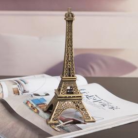 Estátua Miniatura Torre Eiffel Retrô Vintage 10 Cm