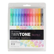 Marcadores Doble Punta Tombow Twintone Colores Pastel
