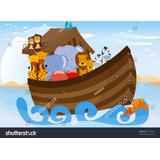 Painel Tecido Sublimado Arca De Noé 1,5 Alt X 2,5 Larg