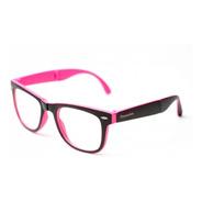 Armação De Óculos Camou Dobrável Preto E Rosa