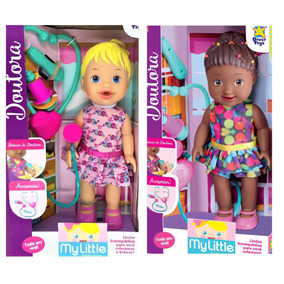 Kit 2 Baby My Little Doutora Cuida De Mim Divertoys