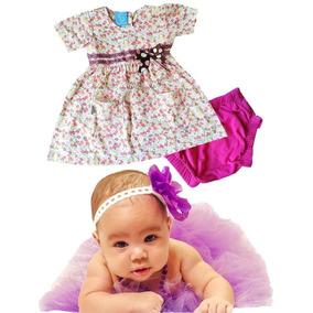 Bellos Vestido De Bebe Con Pantaleta,100% Algodon Ropa Bebes