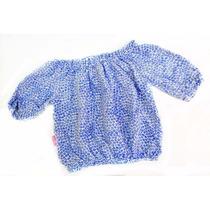 Blusa Fibrana Estampada Nena Por Mayor Mansujitos (x6)