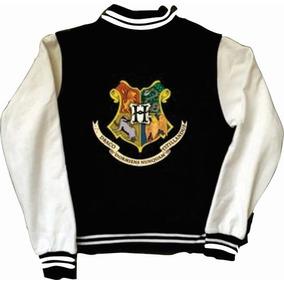Chamarra Hogwarts Harry Potter Tipo Universitaria