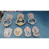 7 Antiguas Aldaba,toca Puerta Originales,bronce Y Hierro