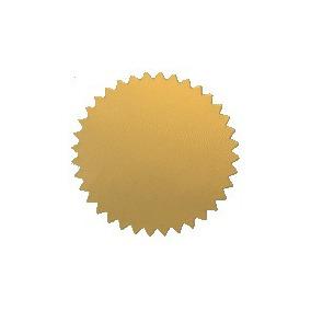 20 Cucardas Metalizadas Diplomas Personalizables Sello Seco