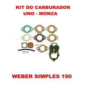 Kit Carburador Uno/premio/elba/fiat 147 Weber Simples 190
