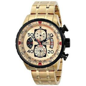 Relógio Invicta Aviador 17205 Banho Ouro 18k Original