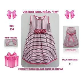 Hermoso Vestido Tm Para Niñas Talla 6