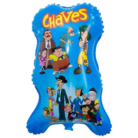 Balão Metalizado Turma Do Chaves. Pacote Com 20 Unidades